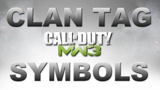 Modern Warfare 3: Symbols in Your Clan Tag (After Patch)