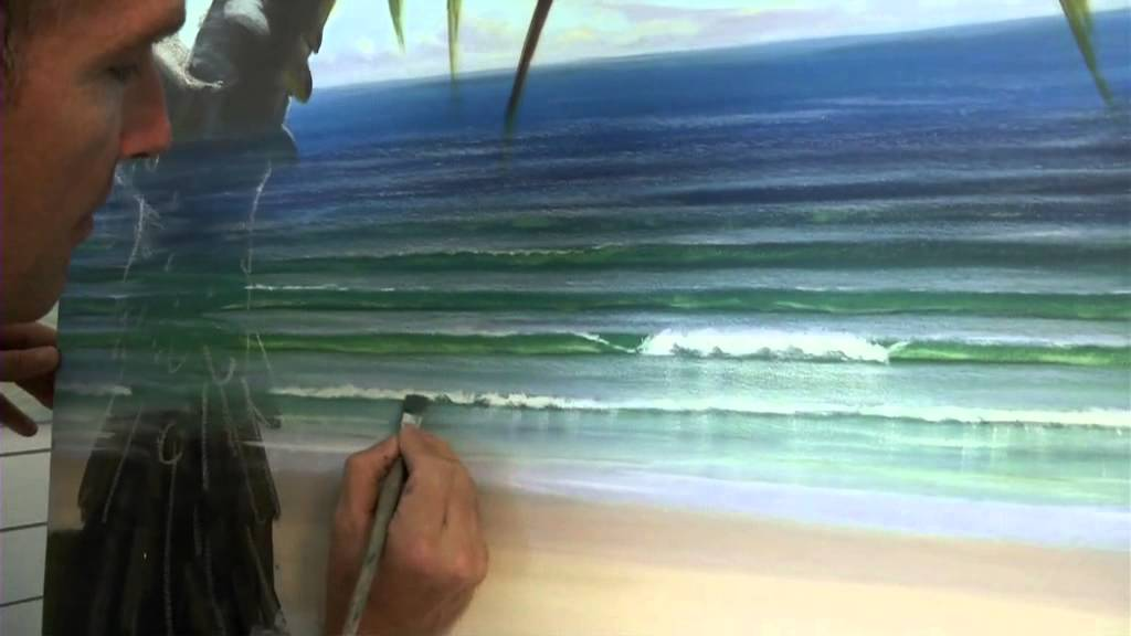 Acrylic Painting Techniques  How To Paint Waves  Shadows In Whitewash  YouTube