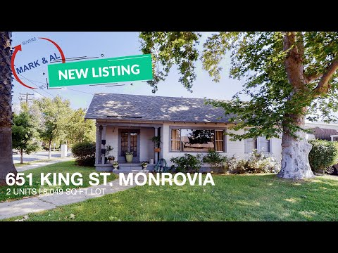 Character Home for Sale in Monrovia: 651 King St, Monrovia CA 91016