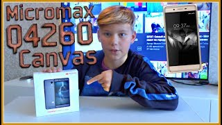Покупка телефон Micromax Q4260 Распаковка + Обзор  Canvas Juice A1 plus Шампань