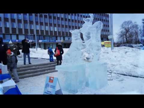 Снежные и ледовые скульптуры на Гиперборее-2017