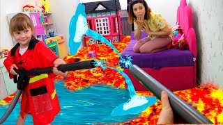 Пол это лава the floor is lava Сборник смешных историй с папой от Настя играет