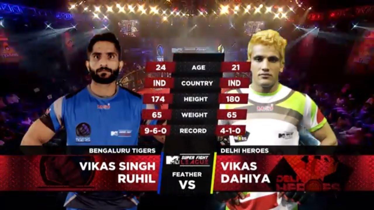Download Bengaluru Tigers Vs Delhi Heroes   MTV Super Fight League   Vikas Singh Ruhil Vs Vikas Dahiya   SFL
