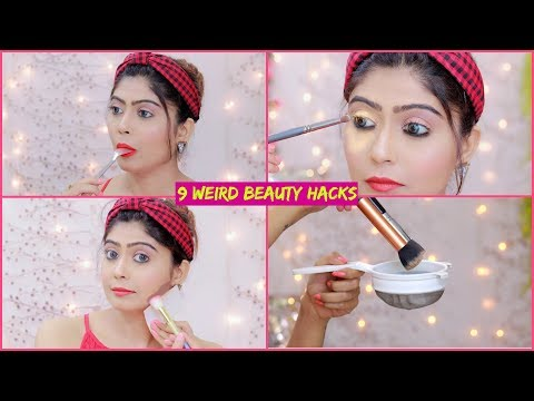 9 Most WEIRD BEAUTY HACKS That Actually WORKS .. #Beauty #Makeup thumbnail