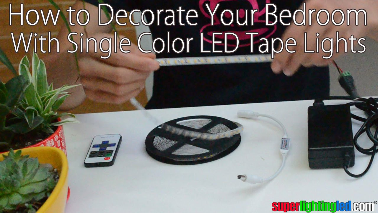 How To Decorate Your Bedroom With Single Color Flexible Led Strip Lights