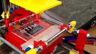 Open Exposer 3D laser printer prototype test