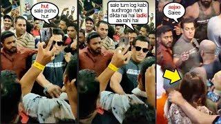 Salman Khan F!GHT$ With FANS to SAV€ Saiee Manjrekar At Dabangg 3 Pramotions @Fitness Compitition