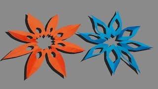 How to make a easy paper star origami out of 3 cuts with out glue