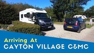 Arriving At Cayton Village Caravan And Motorhome Club Site | Yorkshire Tour 2019