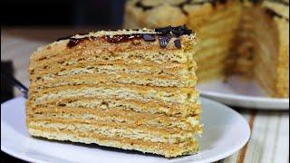 Вкусный и нежный домашний медовик. Торт медовый с самыми тонкими коржами. Рецепты моей кухни