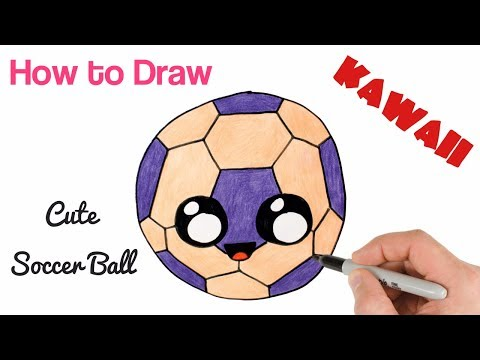 How to Draw a Soccer Ball easy and cute