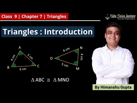 TRIANGLES || Part 1 - Introduction || NCERT - Class 9 - Mathematics || Hindi