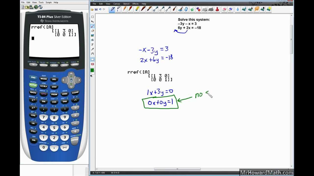 Linear Systems Solving With Graphing Calculator Matrix