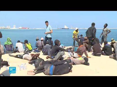 إنقاذ نحو 700 مهاجر قبالة السواحل الليبية خلال يومين  - نشر قبل 1 ساعة
