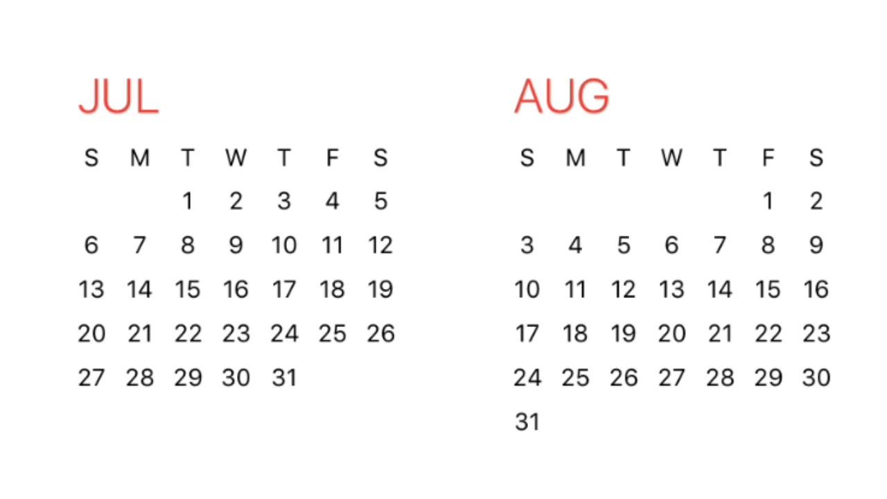 1980 Calendar Youtube