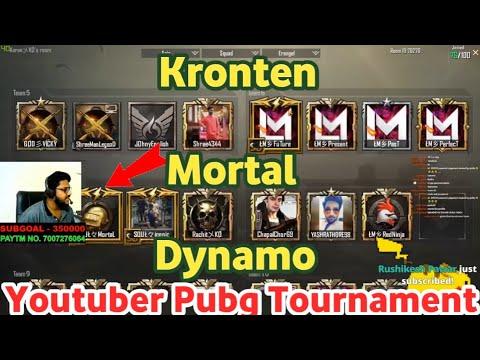 Dynamo Team Vs Kronten Team Vs Mortal Team Full Match, Youtubers Pubg Halloween Tournament highlight