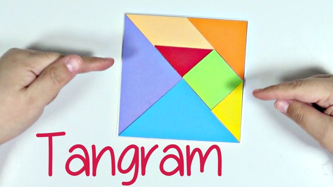 Como Hacer Un Tangram Casero Y Con Troqueles