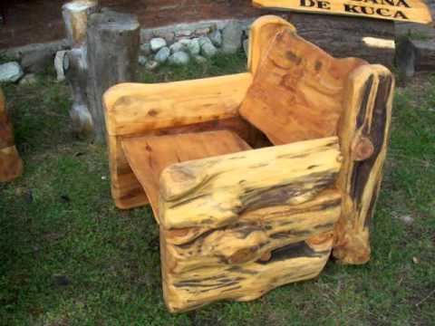 Sillones de cipres rusticos artesanales youtube for Muebles rusticos de madera