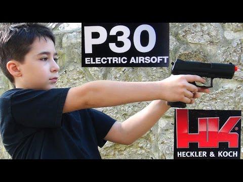 Robert-Andre's H&K P30 Electric Airsoft Pistol airsoft gun!
