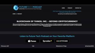 FUTURETECH - BEYOND CRYPTOCURRENCY - BLOCKCHAIN OF THINGS, INC.