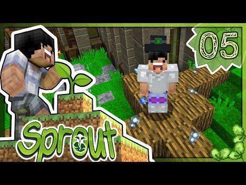 【Minecraft】Sprout🌱小豆芽歷險記 模組生存 #05 - 化身初級魔法師!要變強才能挑戰這世界的妖怪!