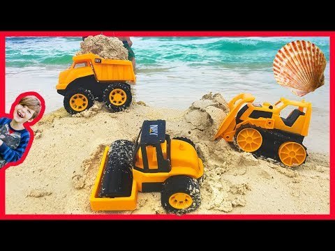 Thumbnail: Construction Trucks for Kids Working at the Beach
