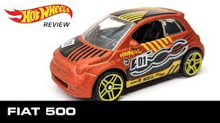 Fiat 500 - Hot Wheels unboxing and review! (Hot hatch diecast car)