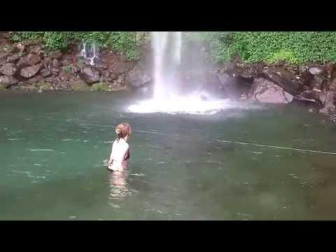 pristine & naturist Camiguin waterfall, Philippines