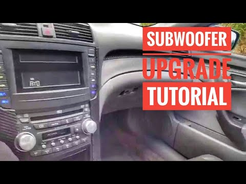 acura tl amp wiring acura tl subwoofer upgrade youtube  acura tl subwoofer upgrade youtube