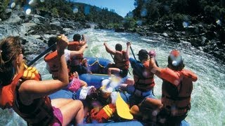 Whitewater Rafting in Yellowstone River  in Montana.