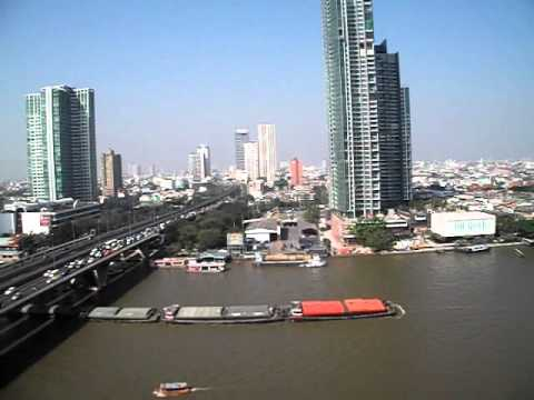 Full Barges on Chao Praya River
