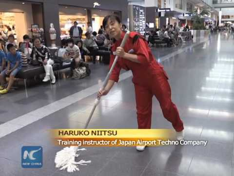 China-born Japanese cleaning craftswoman