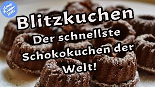 Blitzkuchen - Der schnellste Schokokuchen der Welt - Schnelle Rezepte