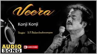 Konji Konji Song   Veera Tamil Movie   Rajinikanth   Meena   Roja   Ilayaraja   Music Master