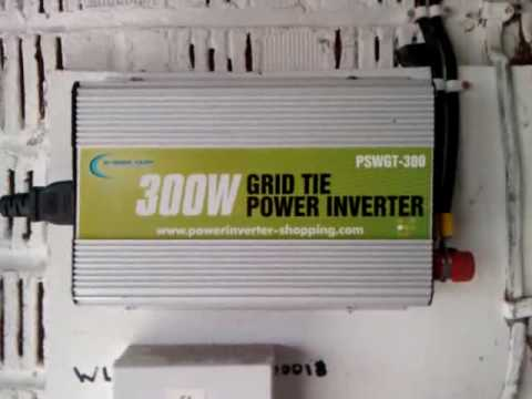 Grid Tie Inverter Solar Panels 2x80w Panels Youtube
