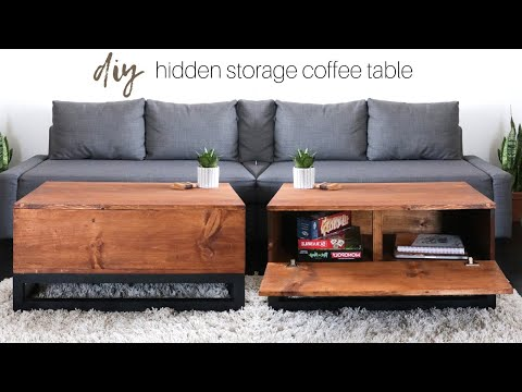 DIY Coffee Table With Hidden Storage | How To Build A Table