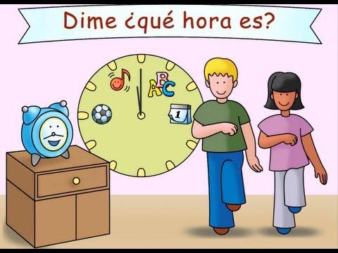 Mr. Clock ¡Señor Reloj! - Calico Spanish Transition Song for Kids