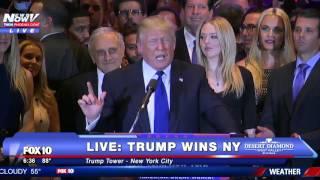 "Donald Trump WINS New York: ""Tonight We Celebrate"" - FNN"