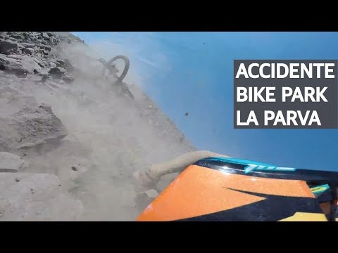 Accidente de Mountain Bike en el Bike Park La Parva, crónica de un porrazo!