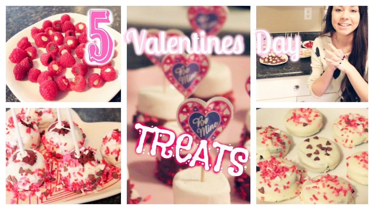 5 Fast Easy Valentine S Day Treat Ideas Youtube