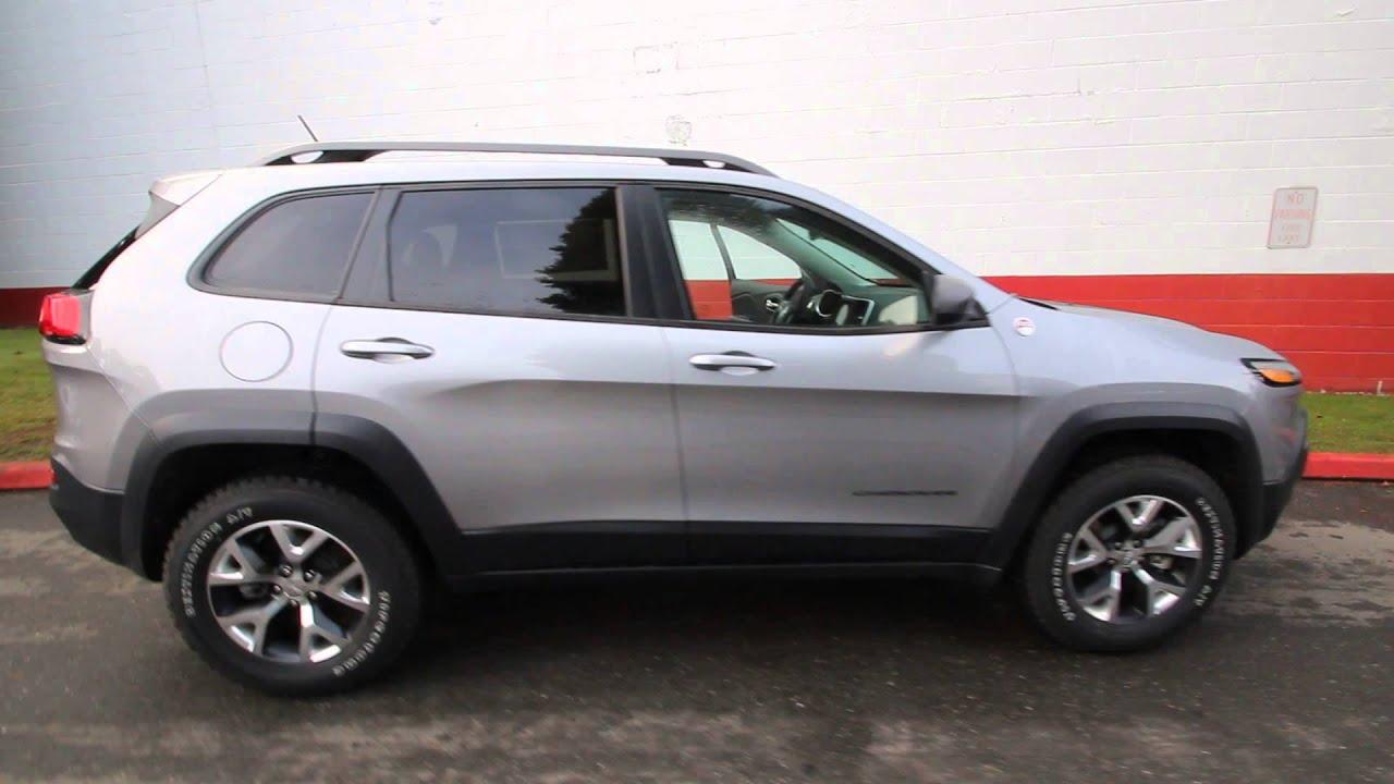 2014 jeep cherokee trailhawk | silver | ew109639 | seattle