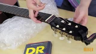 Maker.vn - Thay dây đàn guitar cổ điển - 3 - Thay dây mới