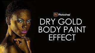 Photoshop Tutorial: Dry Gold Body Paint Effect - Photo Manipulation