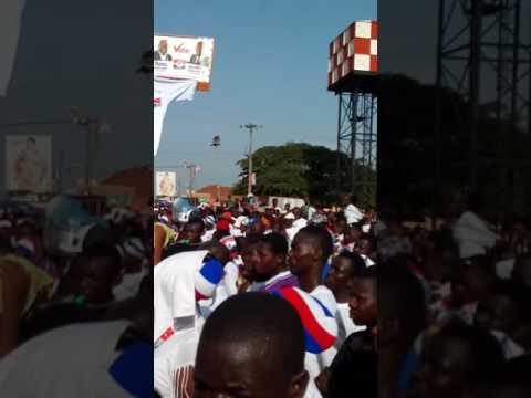 NPP Sunyani west Constituency Campaign launch at Odomase. The people are yearning for change .