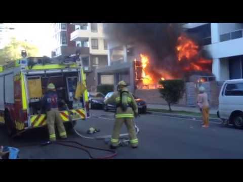 Rhodes Sydney nsw fire