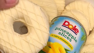 CHOCOLATE COVERED CANNED PINEAPPLE SLICES