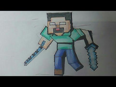 Como Desenhar O Herobrine De Minecraft Youtube