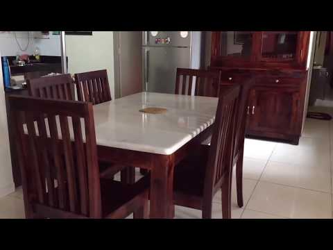 Wooden dining table with marble top - Rightwood