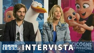 Cicogne in missione: Intervista ai doppiatori italiani Alessia Marcuzzi e Federico Russo | HD