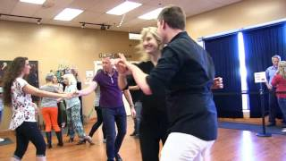West Coast Swing - Camie & Chad Dancing at DF Dance Studio